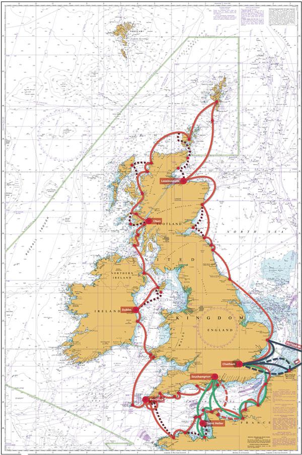 Elite Sailing Adventure Map